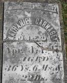 Nathaniel Carnagey gravestone