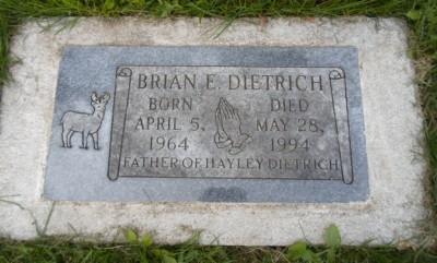Brian Dietrich gravestone