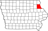 Clayton County in Iowa