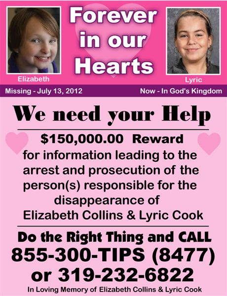Lyric Cook and Elizabeth Collins | Iowa Cold Cases