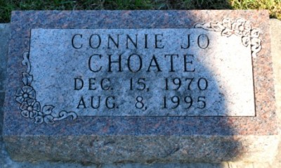 Connie Choate headstone