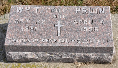 Billy Pruin gravestone