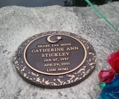 Cathy is buried at Memorial Park Cemetery in Cedar Rapids.
