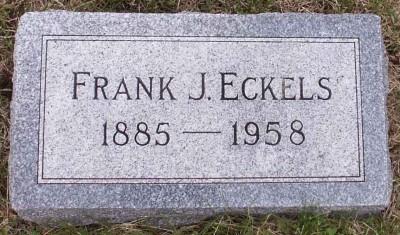 Frank Eckels gravestone