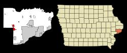 Walcott in Scott County