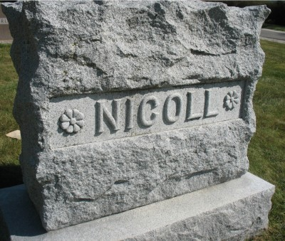 nicoll-family-headstone