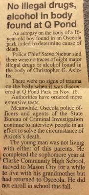 Courtesy Mason City Globe Gazette