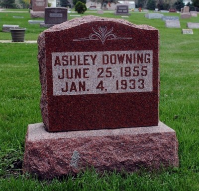 Ashley Downing headstone