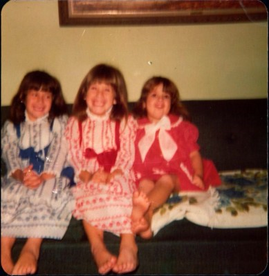 Kim Loose with sisters Julie and Lorrie.