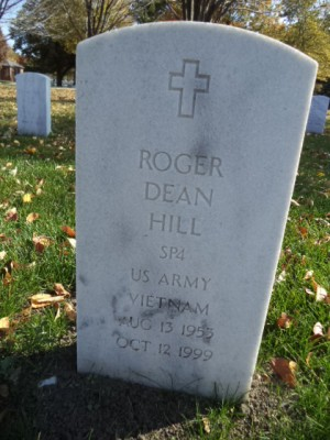 Roger Dean Hill is buried