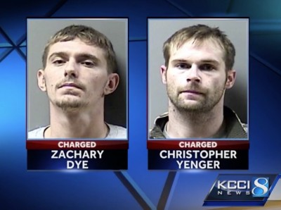 Zachary Dye and Christopher Yenger (Courtesy KCCI.com)