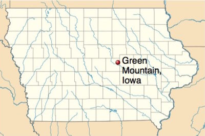 Green Mountain in Marshall County, Iowa