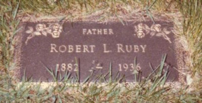 Robert Ruby headstone