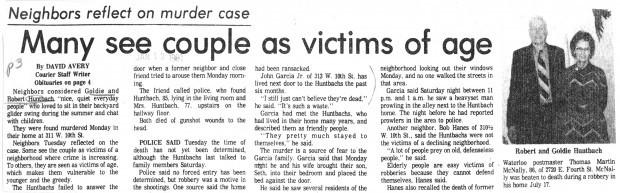 Huntbach story published January 1981