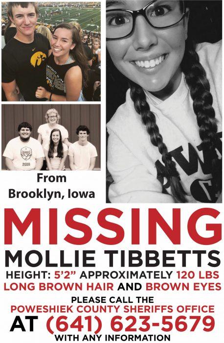 Missing Poster for Mollie Tibbetts