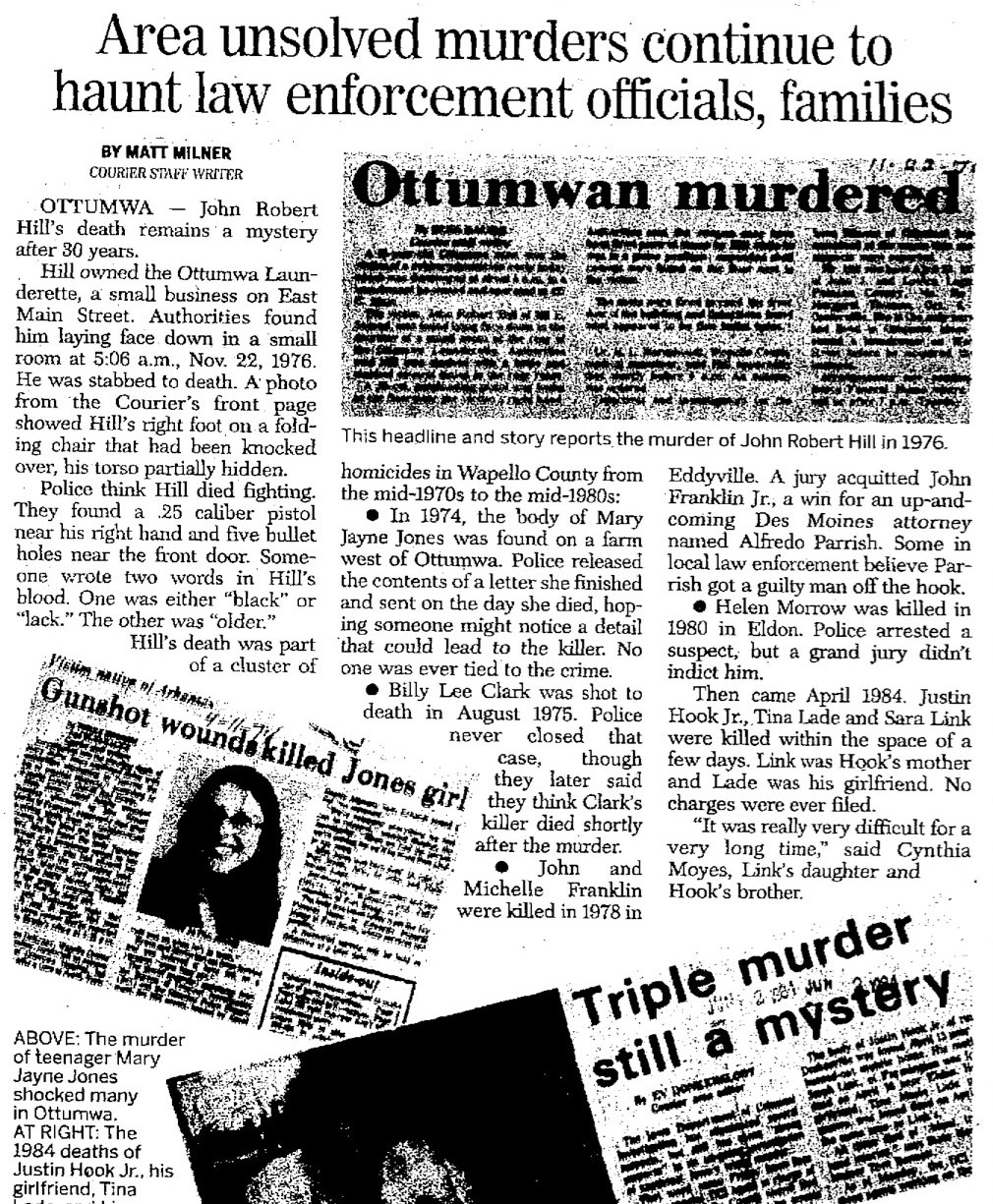 Ottumwa Courier article Jan. 6, 2007