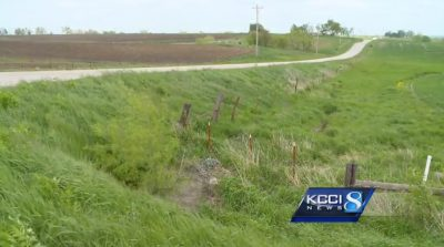Ditch where Ryan Fulkerson found
