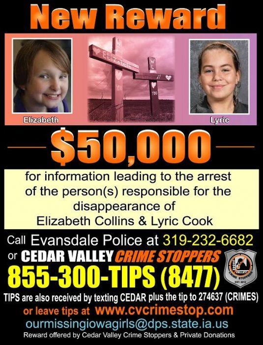 New $50K Reward for Information