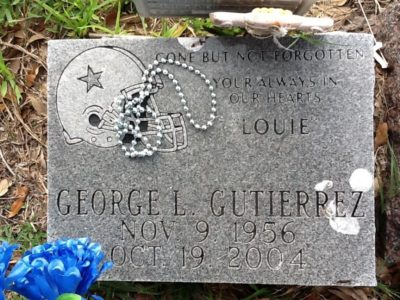 "Jorge ""George"" Gutierrez Sr. gravestone"