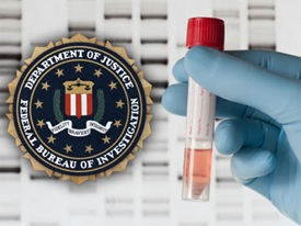 FBI seal, vial