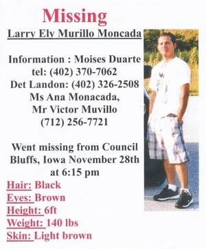 Missing Poster for Larry Murillo