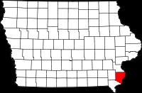 Des Moines County in Iowa